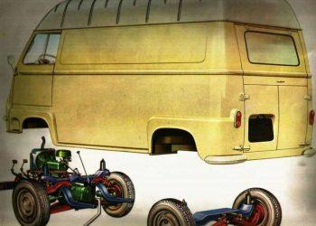 Carroceria e suspensões da Renault Estafette