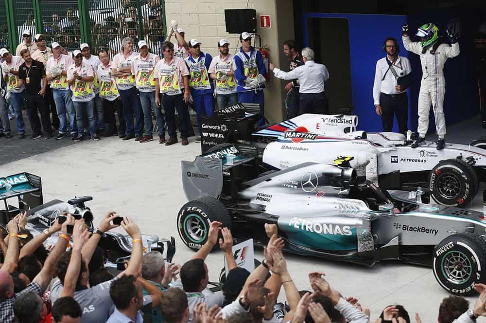 Massa recuperou-se de dois erros e conseguiu segundo pódio do ano (Foto Williams/LAT)