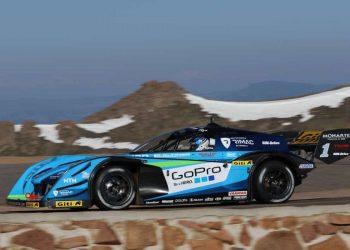O carro el´trico de Tajima, o monstro de Pike's Peak (foto Noburo Tajima)