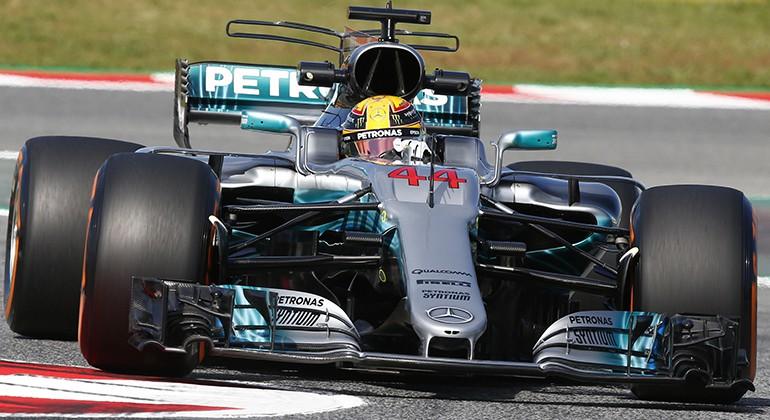 O novo bico instalado no W08 a partir do GP da Espanha, quinta etapa da temporada (Mercedes)