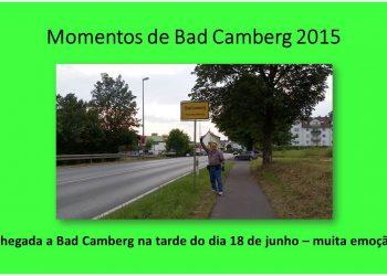 Este é o slide que eu estava apresentando no momento da foto anterior e mostra a foto da chegada à Bad Camberg