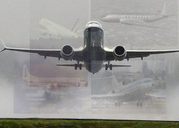 (Boeing 737 MAX - aionline.com) (Boeing 727 - ustoday.com) (Comet 1 - baesystems.com) (Lockheed Electra - wikimedia.org)