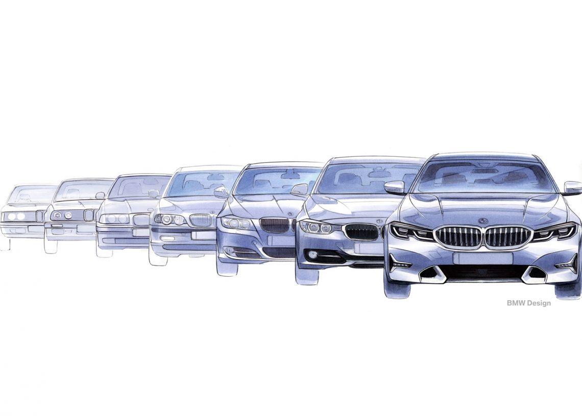 Sketch da evolução do BMW Série 3 (carbodydesign)