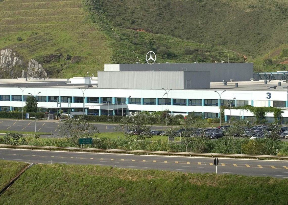 Fábrica Mercedes-Benz em Juiz de Fora (Foto: portallubes.com.br)