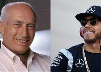 Fangio e Hamilton, dois extremos e igualmente grandes nomes da história da F-1 (Fotos: Mercedes)