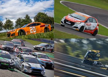 Sentido horário, a partir do alto, esquerda: GT Sprint Race, Copa SHell HB 20, Copa Truck e TCR South America (Arte Curva3)