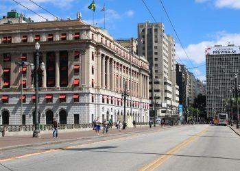 Viaduto do Chá, em São Paulo, em tempo de lockdown (Foto: agenciabrasil.ebc.com.br