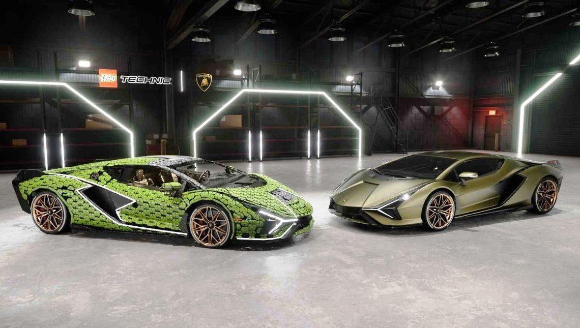 Fotos: Divulgação Lego e Lamborghini